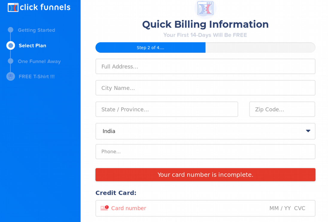 add billing details for free trials