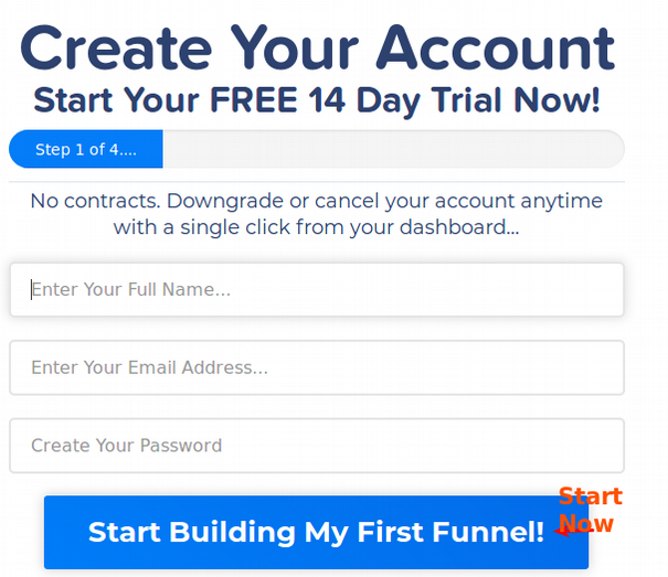 create an account with clickfunnels