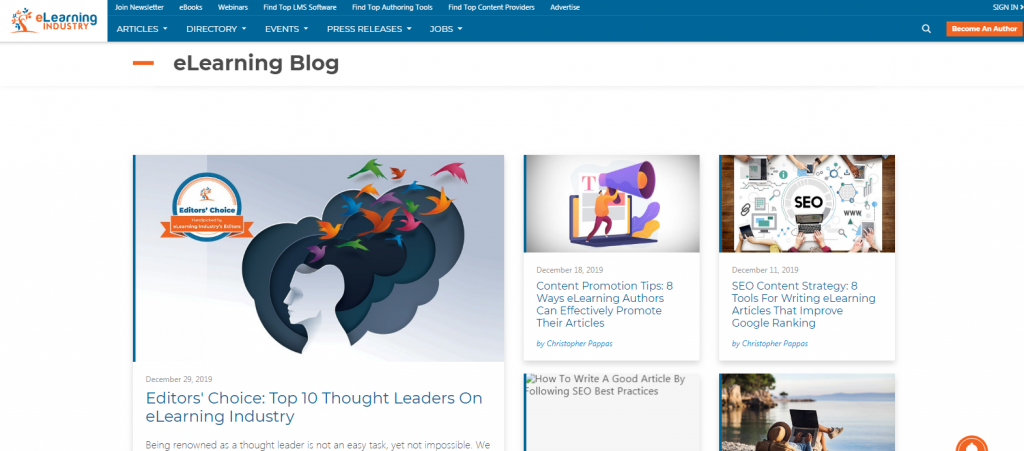 elearning blog from elearning industry