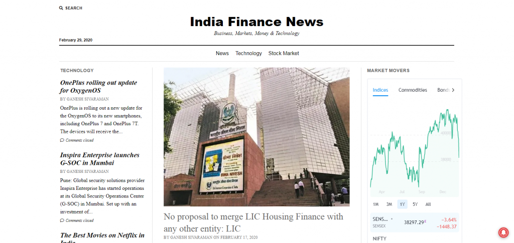 finance blog from india finance news