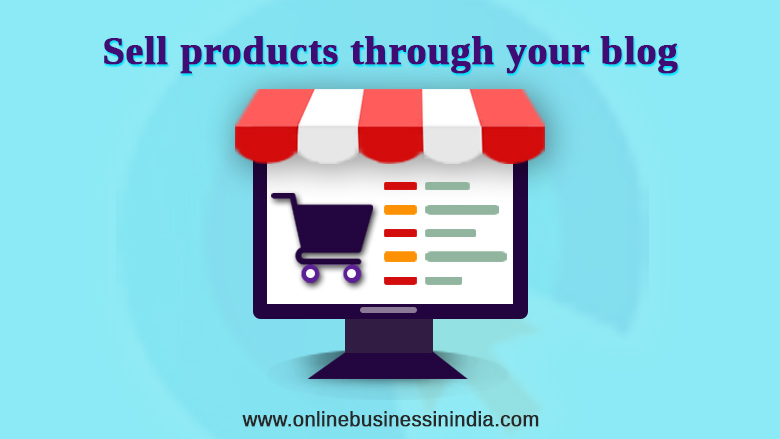 sell your products from your blog