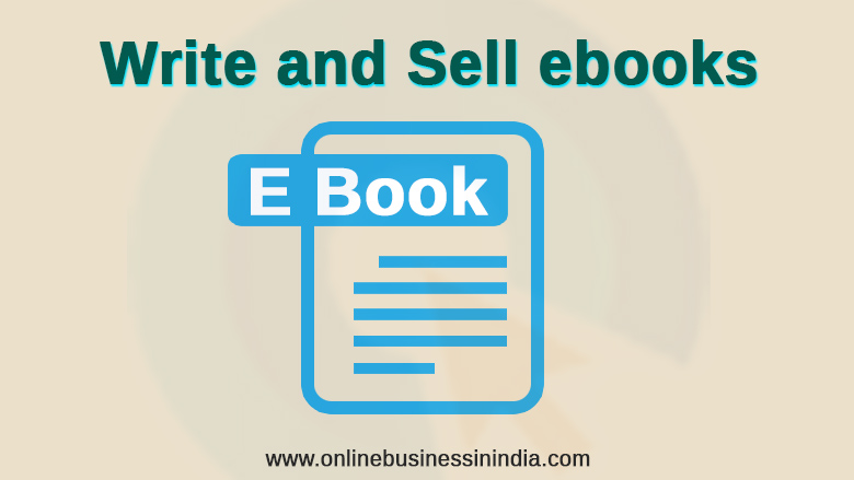 write and sell ebooks on blog