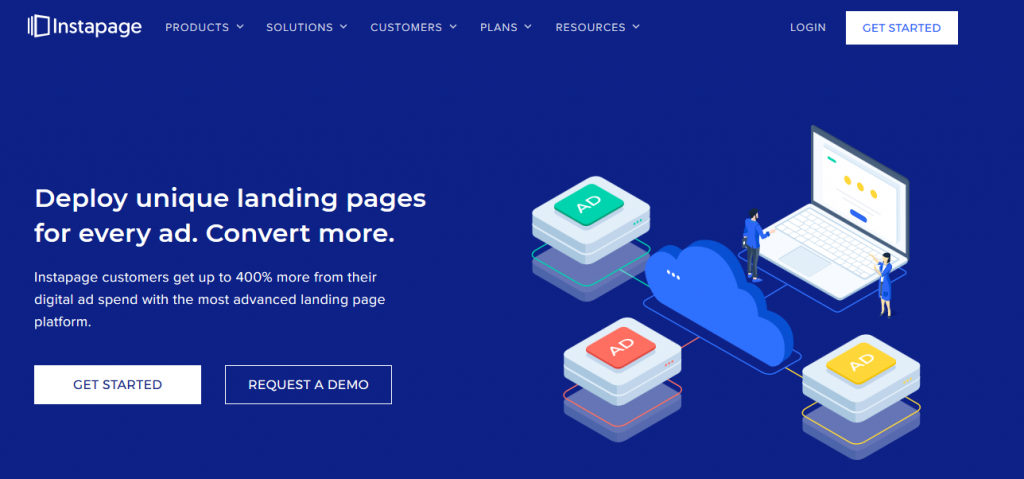 instapages landing page tool for affiliate marketing