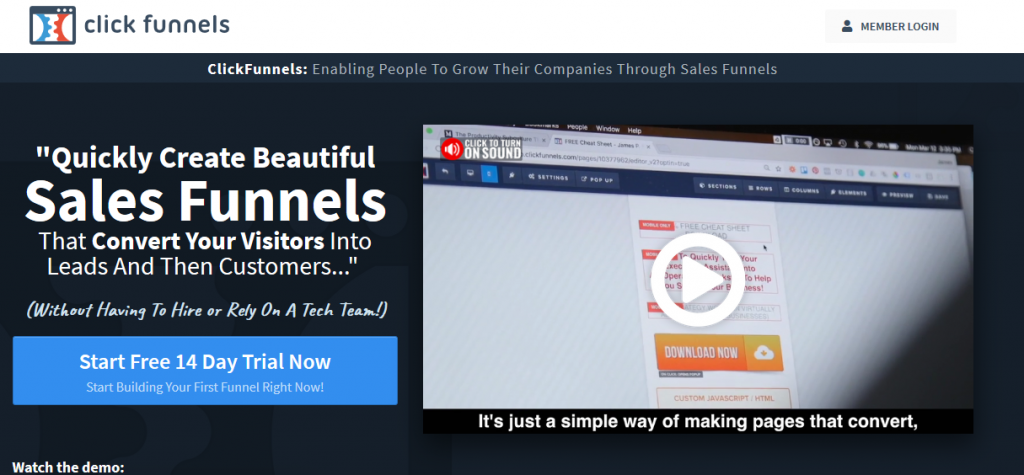 click funnels funnel tool for affiliate marketing