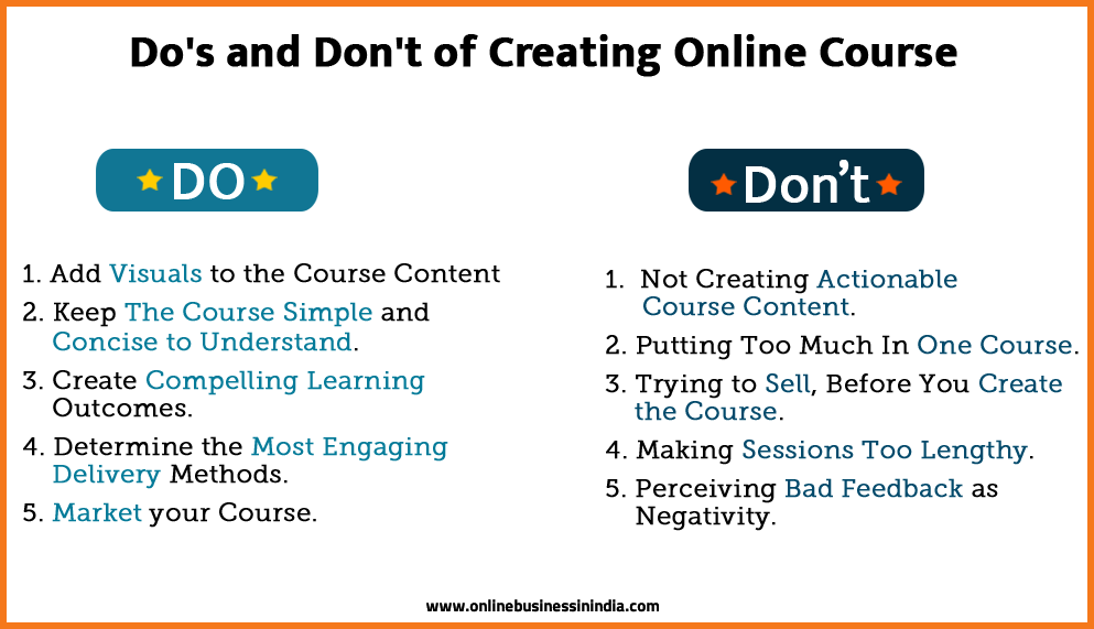 dos and donts of creating online courses